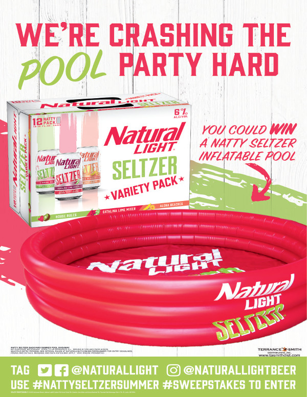 Natural Light Seltzer Pool
