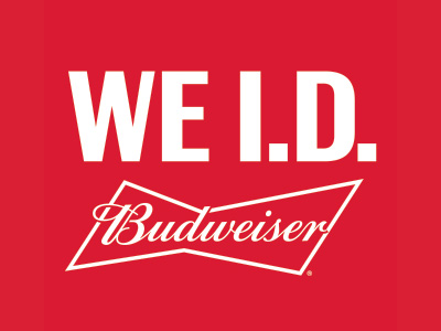 "Budweiser ""We ID"" campaign encouraging responsible alcohol retailing"