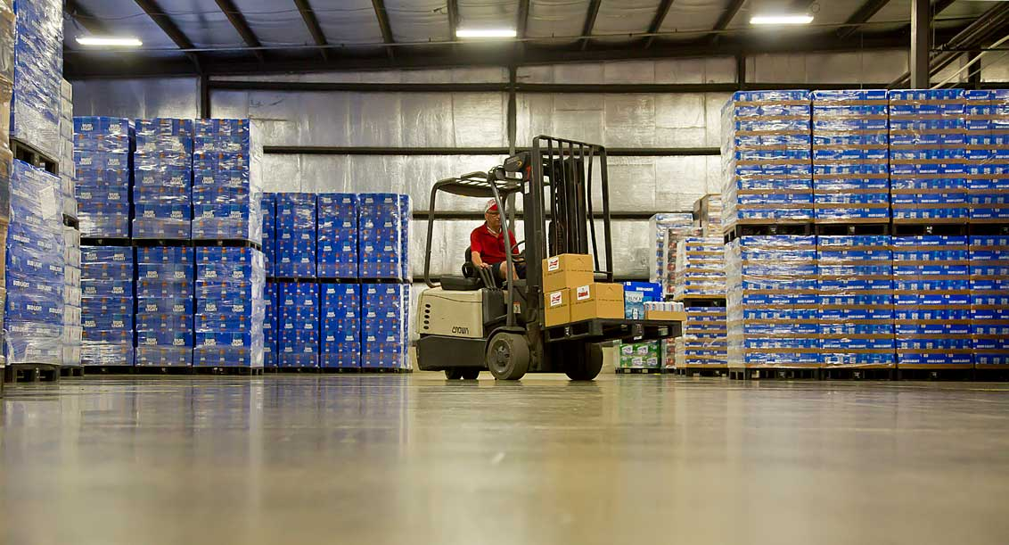 Forklift driver warehouse at Terrance A Smith Distributing Anderson Indiana