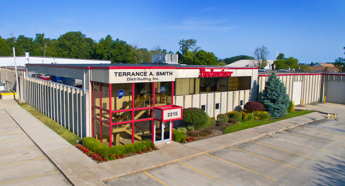 Exterior view of the Terrance A Smith Distributing facility in Anderson, Indiana